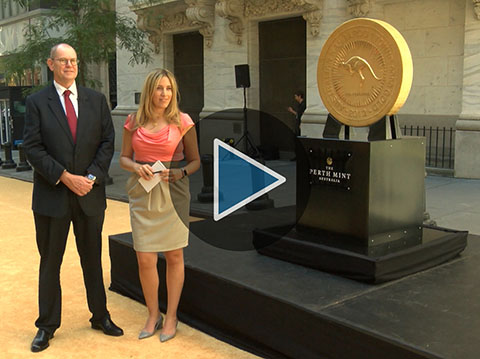 $50 Million Gold Coin Makes Splash at NYSE