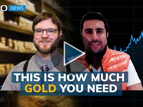 You should have enough gold to preserve your wealth for 24 months