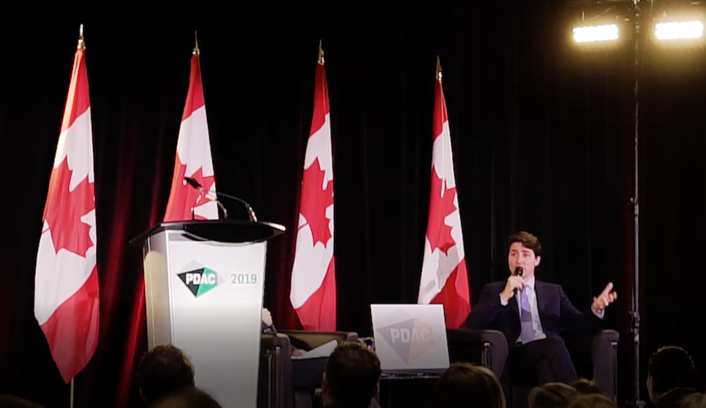 Canada's PM Trudeau Asked About Gold As Soon As He Arrived At PDAC